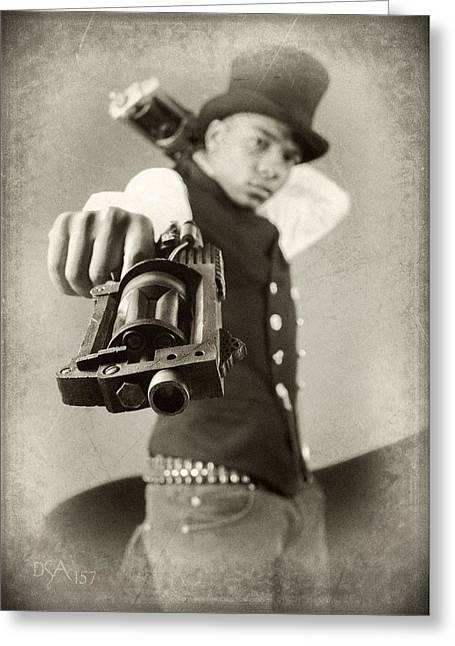 Steampunk Photographs Greeting Cards - Steam Punkz II Greeting Card by David April