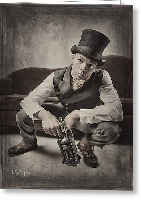 Steampunk Photographs Greeting Cards - Steam Punkz III Greeting Card by David April