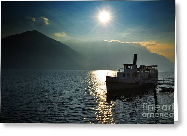 Steam Ship Greeting Cards - Steam ship Greeting Card by Mats Silvan