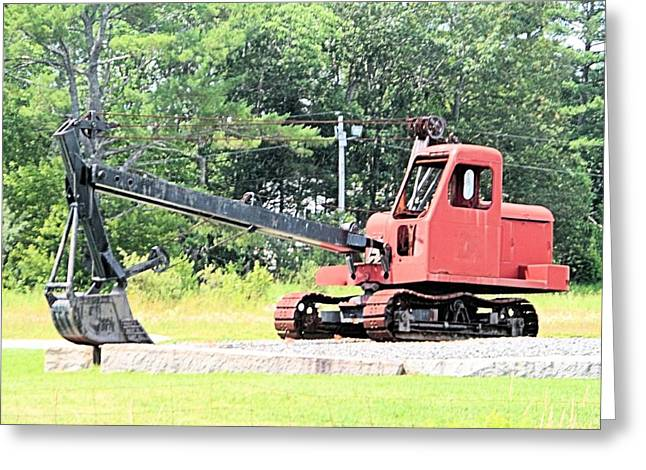 Mike Mulligan Greeting Cards - Steam Shovel Greeting Card by James Potts