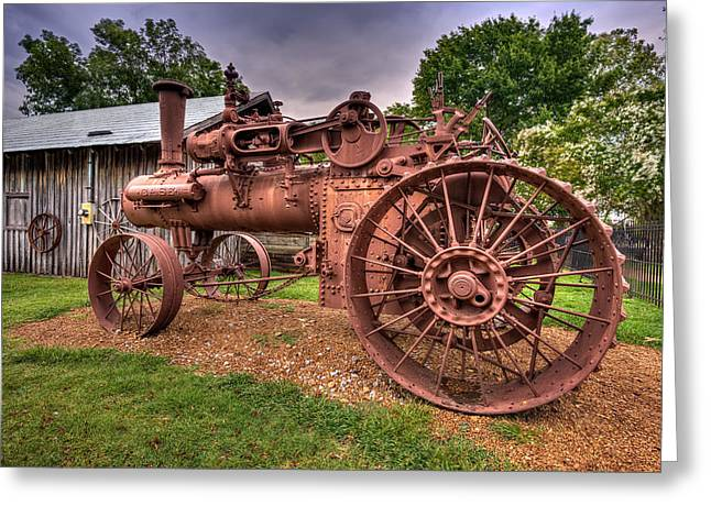 Tn Digital Art Greeting Cards - Steam Tractor Greeting Card by Brett Engle