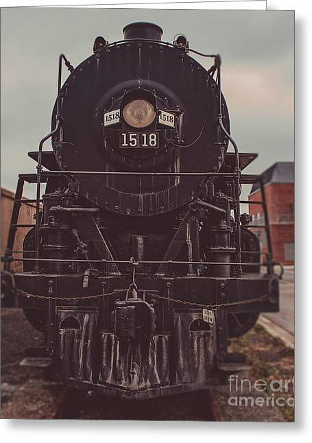 Midwestern Art Greeting Cards - Steam Train 1518 Greeting Card by Emily Kay