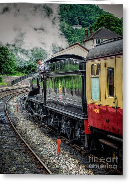 2-8-0 Greeting Cards - Steam Train 3802 Greeting Card by Adrian Evans