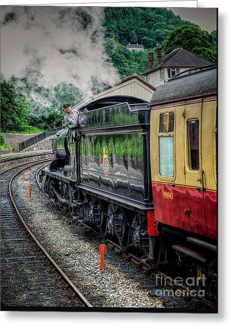 Steam Train 3802 Greeting Card by Adrian Evans