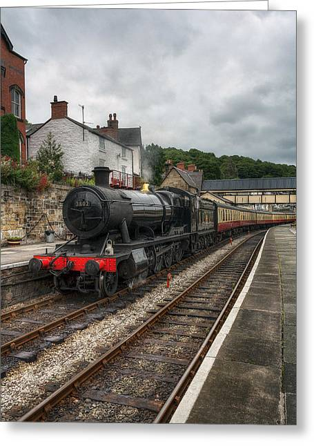 Steam Train Greeting Card by Ian Mitchell
