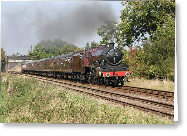 Mark Severn Greeting Cards - Steam Train Greeting Card by Mark Severn