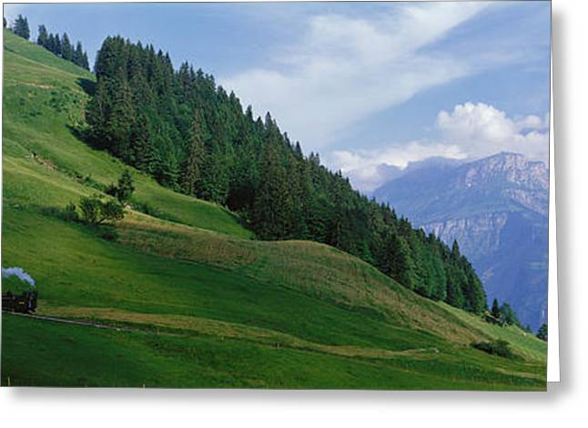 Rr Greeting Cards - Steam Train Near Brienz Switzerland Greeting Card by Panoramic Images