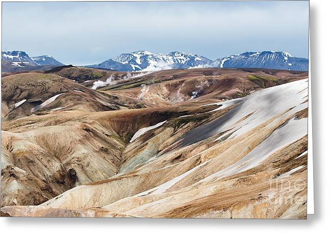 Camp Mystic Greeting Cards - Steam Vents - Landmannalaugar Trail - Laugavegurinn - Iceland Greeting Card by Steve Lagreca