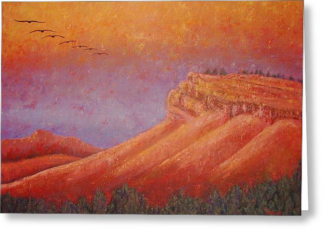 M Bobb Greeting Cards - Steamboat Mountain at Sunrise Greeting Card by Margaret Bobb