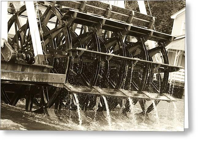 Steamboat Greeting Card by Nicholas Evans