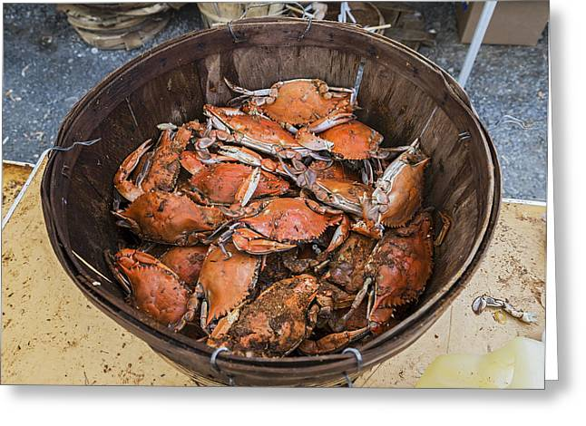 Saint Of Cooks Greeting Cards - Steamed Crabs Greeting Card by Brian Wallace