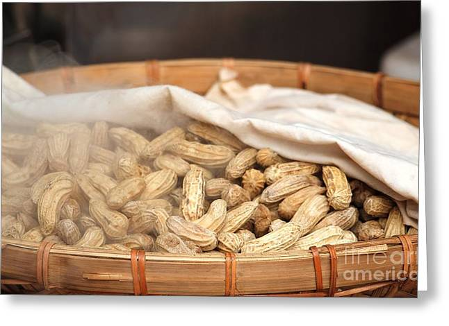 Steamed Peanuts Greeting Card by Yali Shi