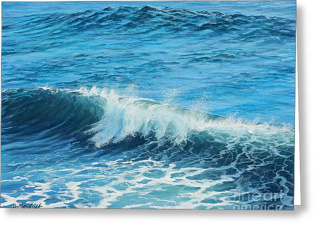 Steamer Lane Greeting Card by Joe Mandrick