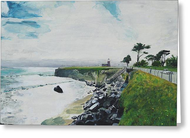 Steamer Lane Greeting Cards - Steamer Lane - Santa Cruz Greeting Card by Peter Forbes