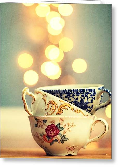 Dreamy Food Photography Greeting Cards - Steamer Stack Greeting Card by Amelia Matarazzo