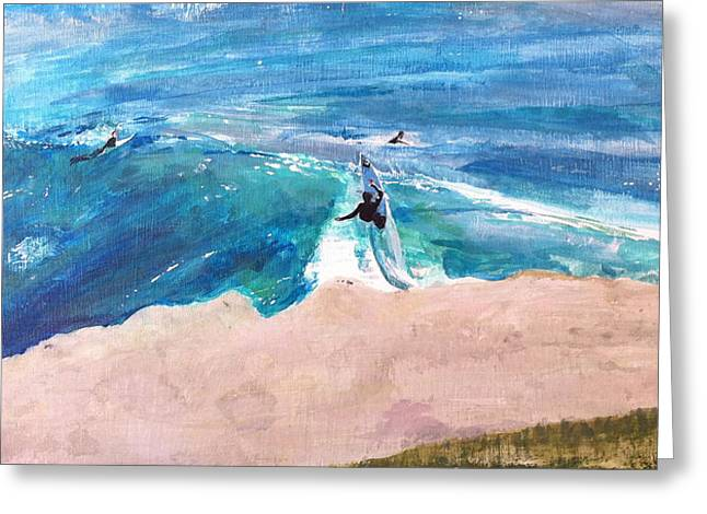 Steamer Lane Greeting Cards - Steamer Lane Greeting Card by Peter Forbes