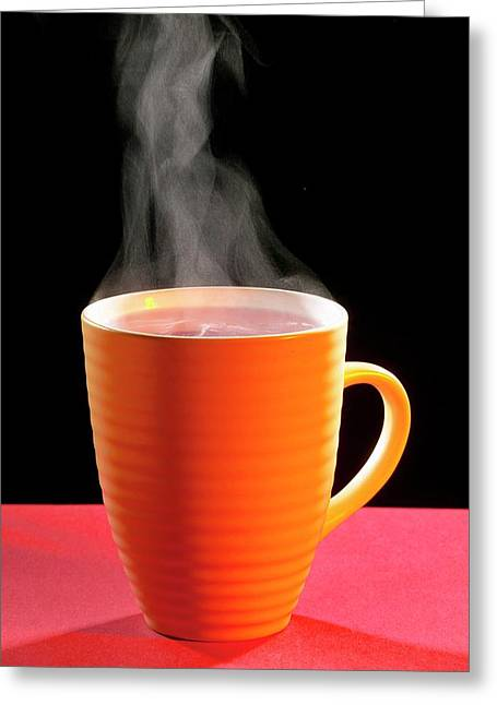 Steaming Hot Drink Greeting Card by Mark Sykes