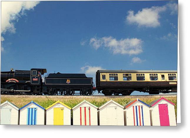 Dart Stations Greeting Cards - Steaming Past The Beach Greeting Card by Peter Hunt