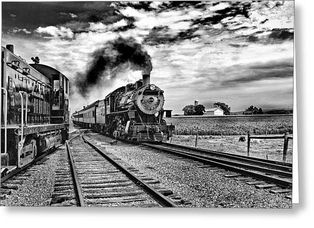 Strasburg Greeting Cards - Steaming through the country side Greeting Card by Paul W Faust -  Impressions of Light