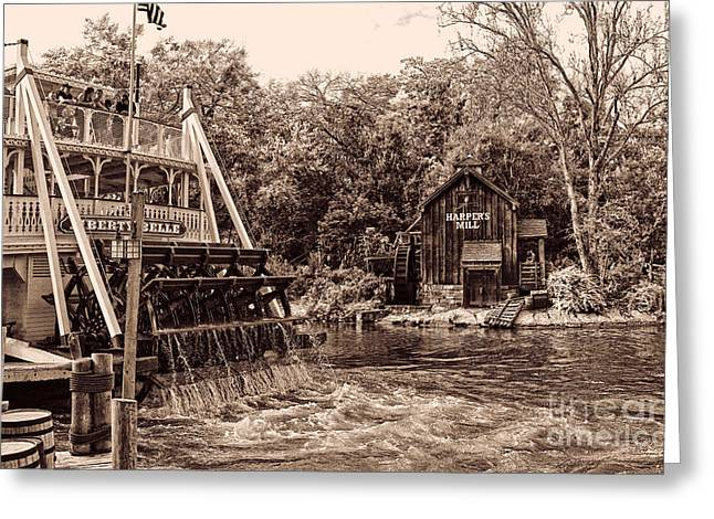 Fashion Pictures For Sale Greeting Cards - Steaming up the River. Greeting Card by Lee Dos Santos