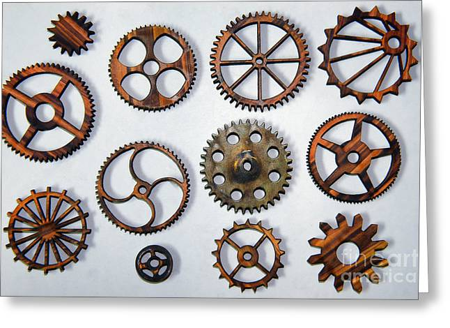 Cog Greeting Cards - Steampunk - All Those Gears Greeting Card by Paul Ward