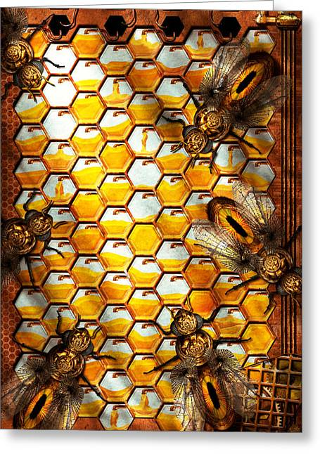 Geek Photographs Greeting Cards - Steampunk - Apiary - The hive Greeting Card by Mike Savad