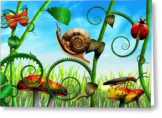Steampunk - Bugs - Evolution take time Greeting Card by Mike Savad