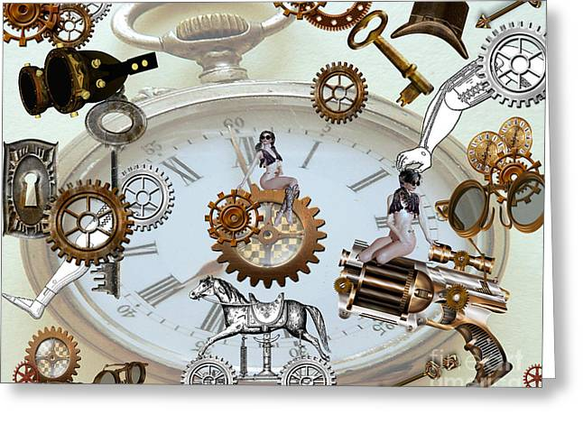 Steampunk Greeting Card by Cheryl Young