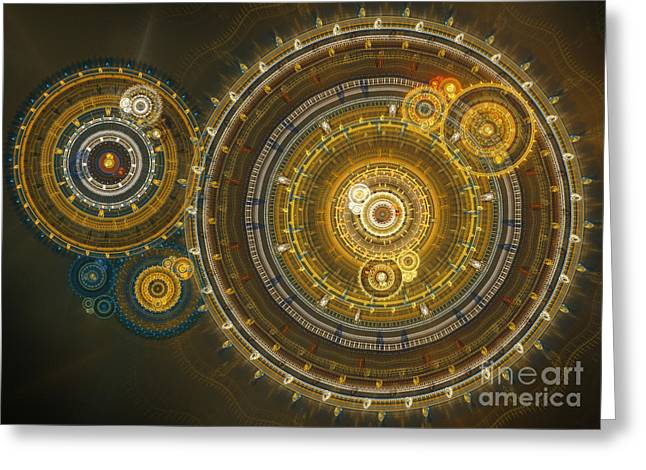 Mechanism Greeting Cards - Steampunk dream Greeting Card by Martin Capek