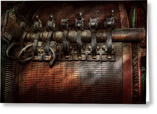 Electrical Wiring Greeting Cards - Steampunk - Electrical - Motorized  Greeting Card by Mike Savad