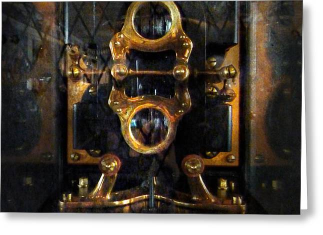 Steampunk - Electrical - The power meter Greeting Card by Mike Savad