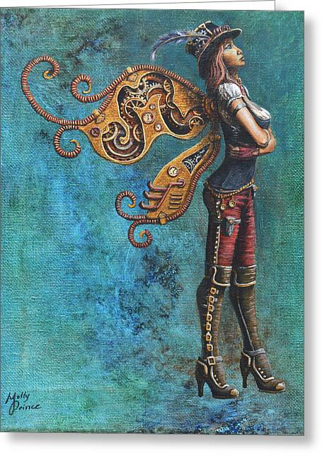 Steampunk Fairy Greeting Card by Molly Prince