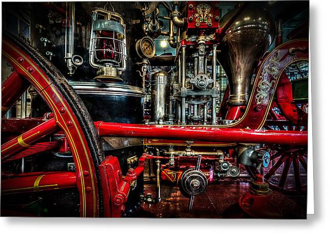 Station Wagon Greeting Cards - Steampunk Fire Wagon Greeting Card by David Morefield