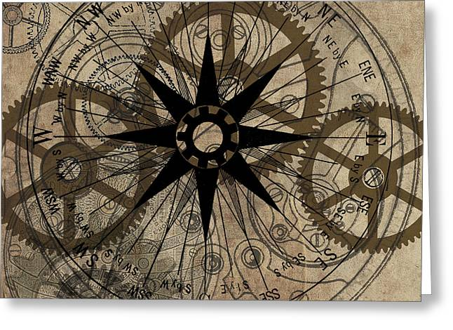 Star Greeting Cards - Steampunk Gold Gears II  Greeting Card by James Christopher Hill