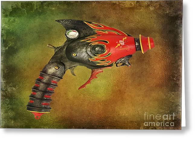 Steampunk - Gun - Electric Raygun Greeting Card by Paul Ward