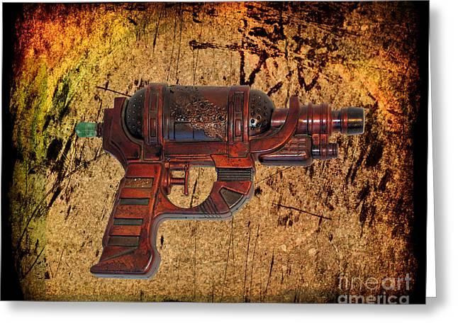 Steampunk - Gun - Ray Gun Greeting Card by Paul Ward