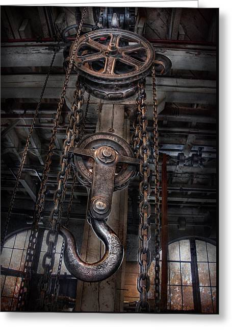 Menace Greeting Cards - Steampunk - Industrial Strength Greeting Card by Mike Savad