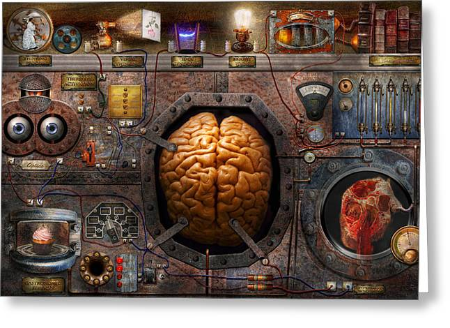 Switches Greeting Cards - Steampunk - Information overload Greeting Card by Mike Savad