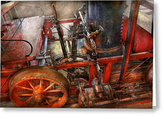 First-class Greeting Cards - Steampunk - My transportation device Greeting Card by Mike Savad