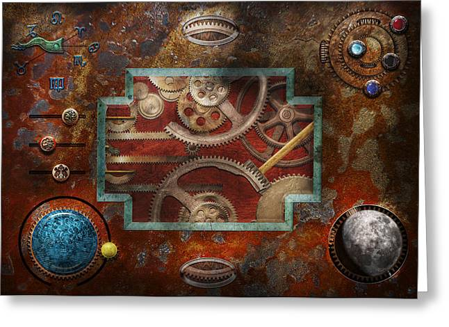 Steampunk - Pandora's box Greeting Card by Mike Savad