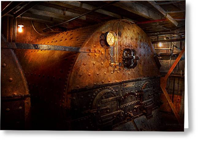 Steampunk - Plumbing - The home of a stoker  Greeting Card by Mike Savad