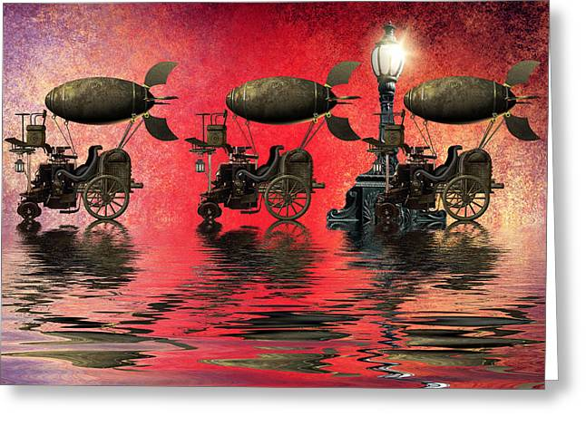 Bizarre Mixed Media Greeting Cards - Steampunk Greeting Card by Sharon Lisa Clarke