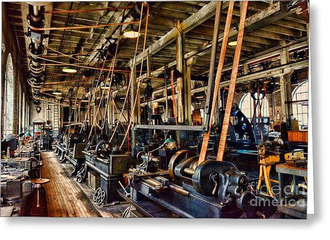 In Belt Greeting Cards - Steampunk - The Age of Industry Greeting Card by Paul Ward