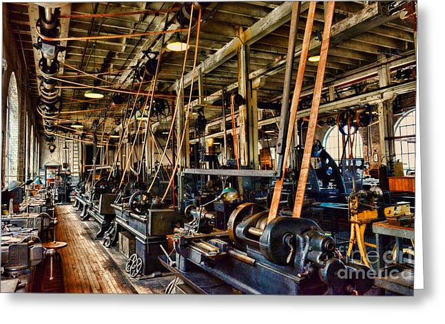 Factory Workers Greeting Cards - Steampunk - The Age of Industry Greeting Card by Paul Ward