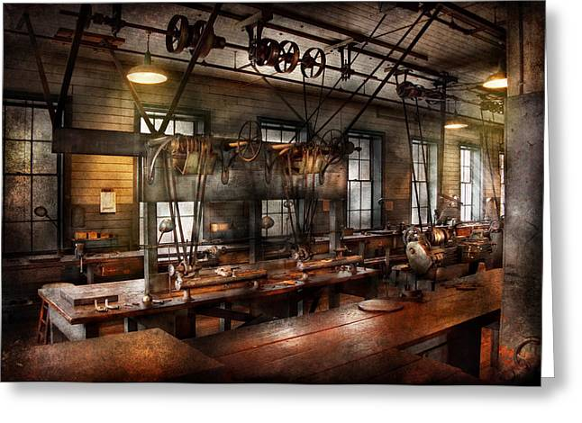 Mechanism Photographs Greeting Cards - Steampunk - The Workshop Greeting Card by Mike Savad
