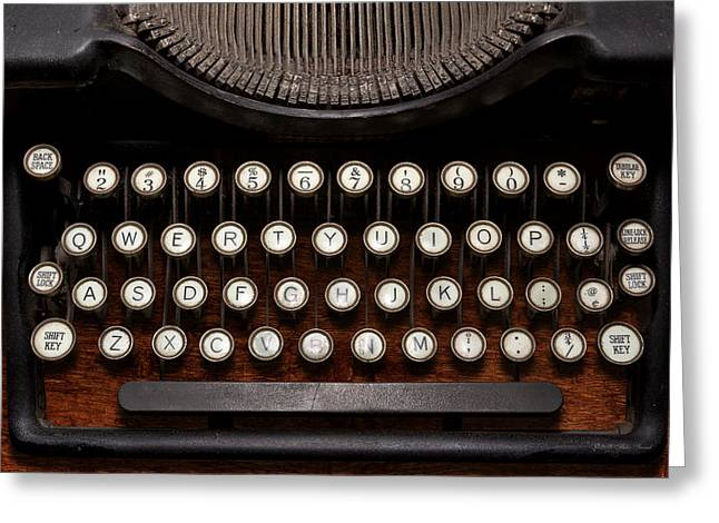 Typewriter Greeting Cards - Steampunk - Things that changed Greeting Card by Mike Savad