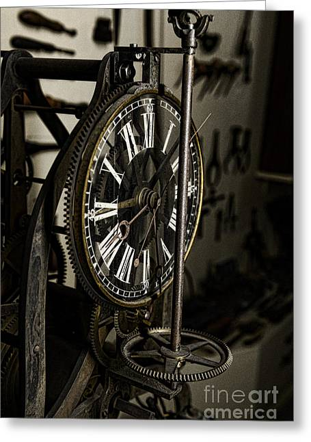 Up For Repairs Greeting Cards - Steampunk - Timekeeper Greeting Card by Paul Ward
