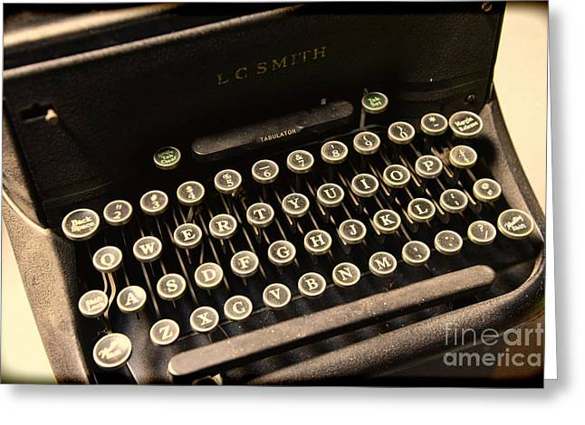 Steampunk - Typewriter - The Age of Industry Greeting Card by Paul Ward
