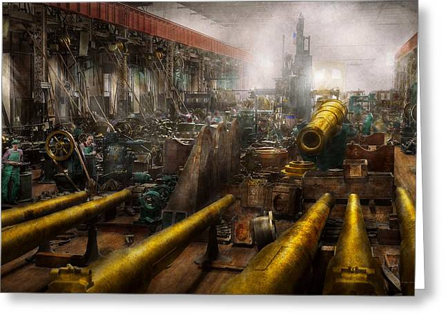 Steampunk - War - We Are Ready Greeting Card by Mike Savad