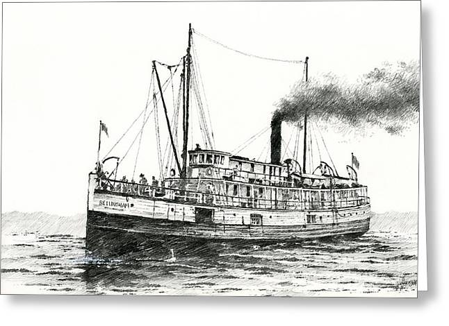 Seattle Waterfront Greeting Cards Greeting Cards - Steamship Bellingham Greeting Card by James Williamson